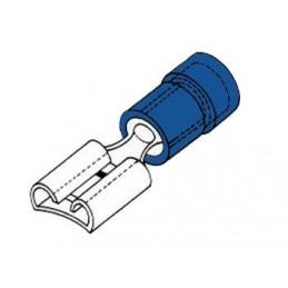 COSSE FEMELLE 4.8mm BLEUE