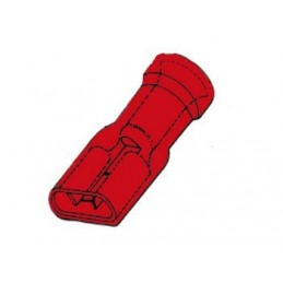 CLIP FEMELLE ISOLE 6.4mm ROUGE